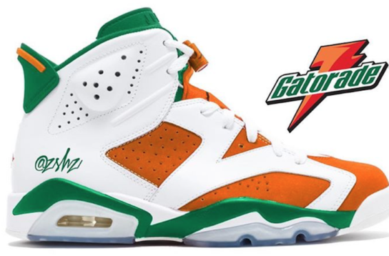 huge selection of e4f2a a74d8 A Preview Of The Air Jordan 6 Gatorade