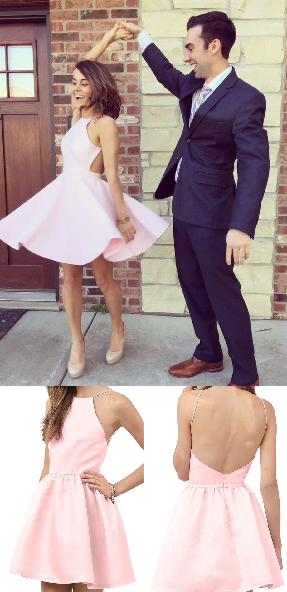 Pink homecoming dresshomecoming gownsprom gownpink prom dress