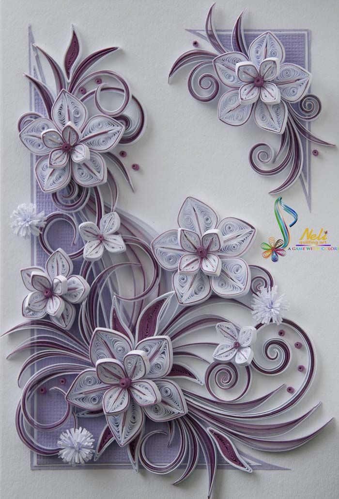 100+ Best Paper Quilling Cards ( Beautiful Photos )