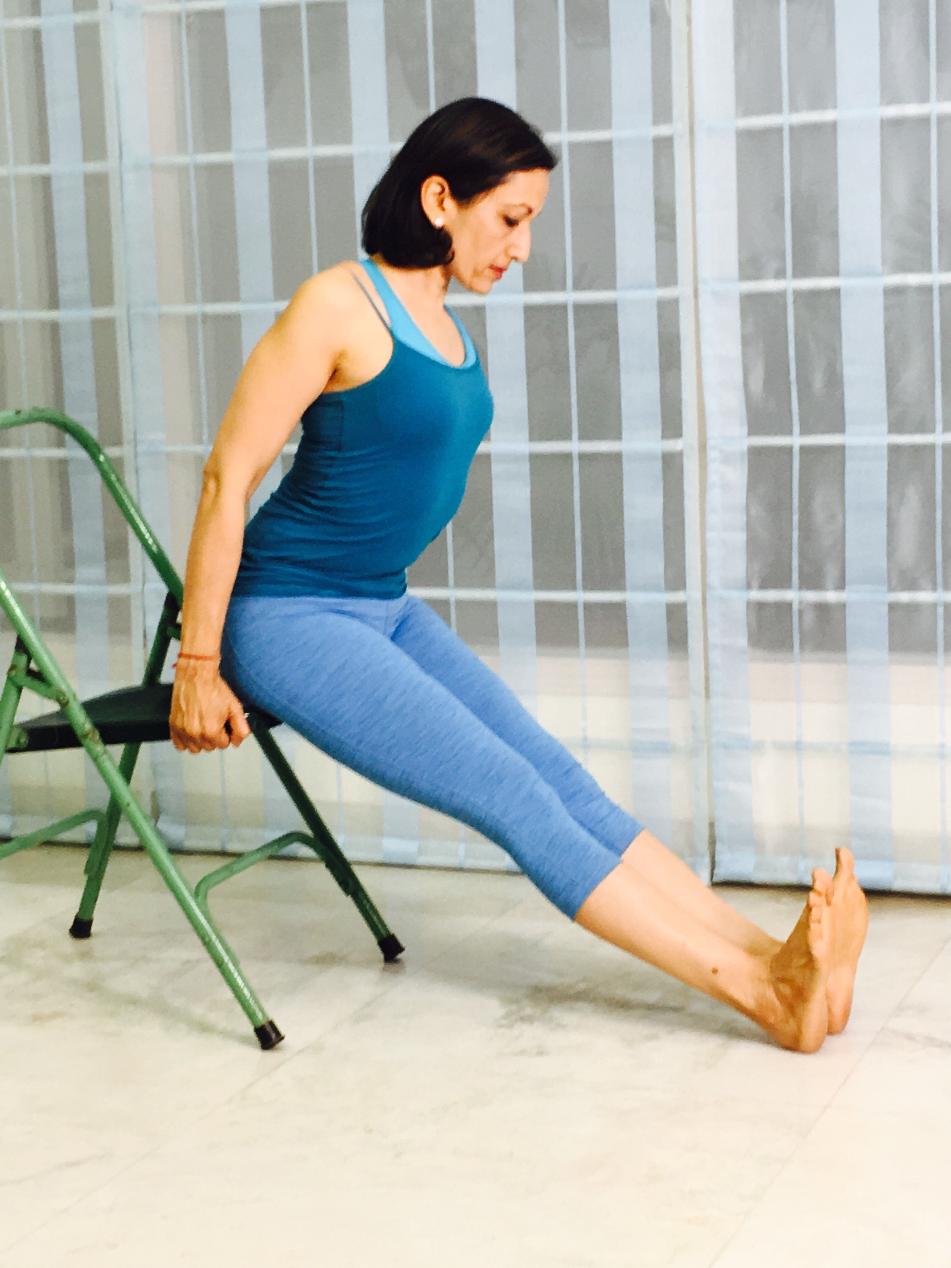 5 Chair #Yoga Poses You Can Do Anywhere #fitness #fitfam