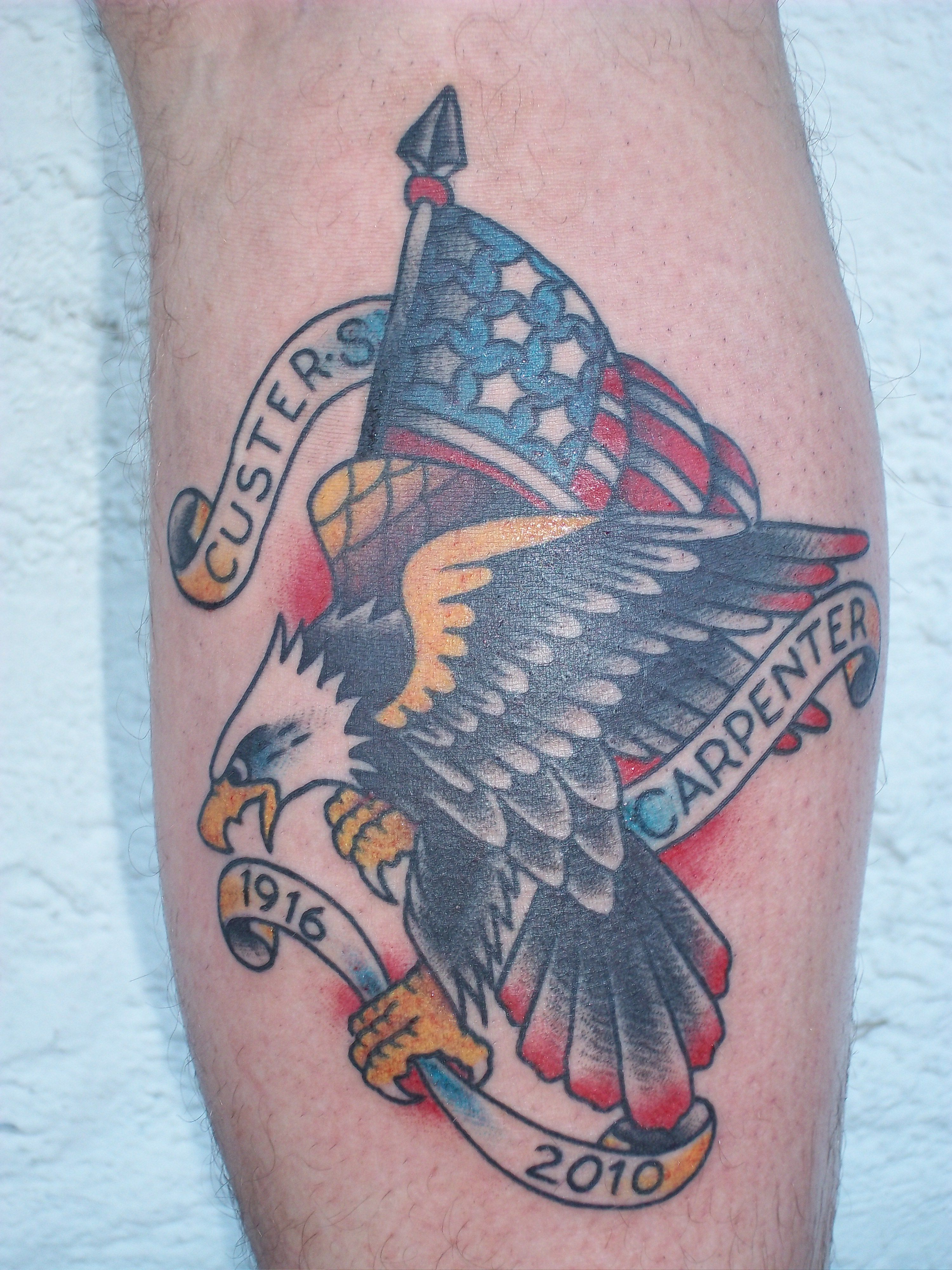 American eagle tattoos high quality photos and flash - Traditional Eagle And Flag Tattoos Tattoos Traditional
