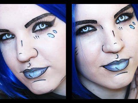 Maya | borderlands cel shaded | makeup tutorial youtube.
