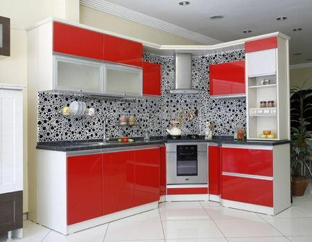 Kitchen Cabinets Ideas Kitchen Cabinets Red And White