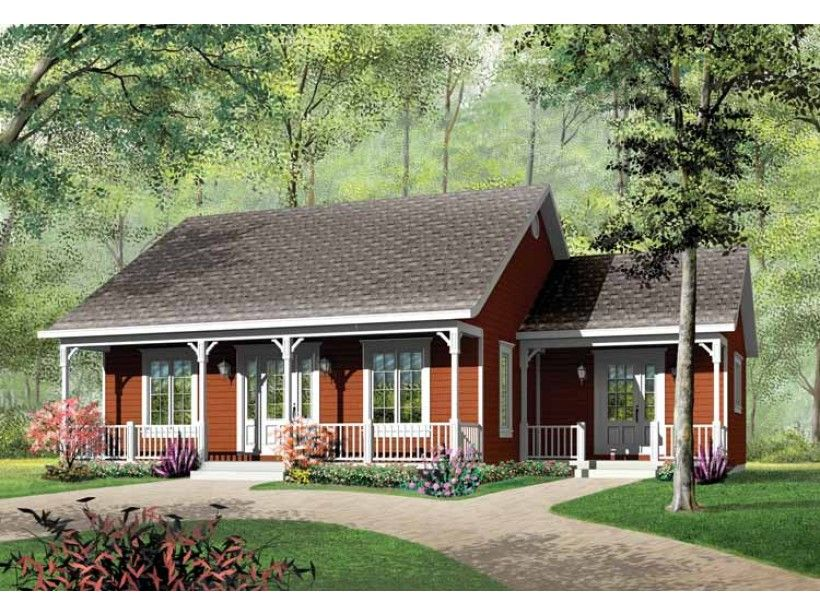 Cottage Style House Plan 3 Beds 1 Baths 1147 Sq Ft Plan 23 320 Country Style House Plans Cottage Style House Plans Ranch House Plans