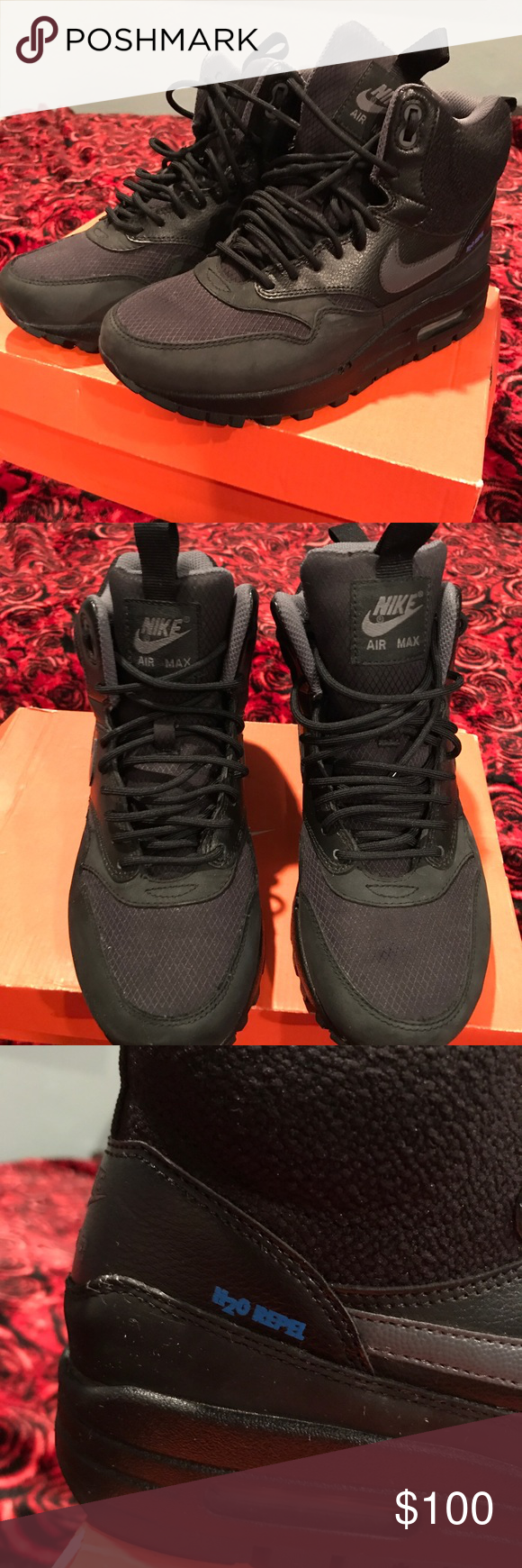 the latest b6f71 71b96 Nike Air Max1 Mid Sneakerboot H2O Repel Brand new! No box. Perfect for the  cool weather, air cushioning. Water repellent. 💦❌ Nike Shoes Winter & Rain  ...