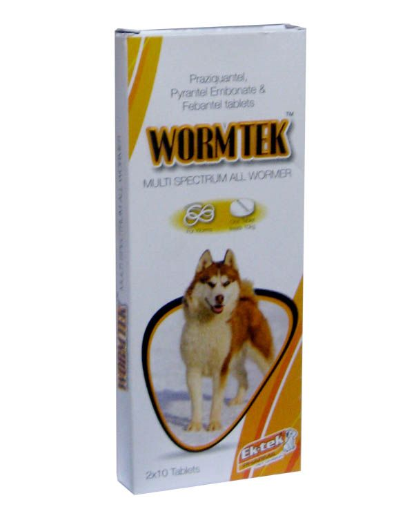 All4pets Worm Tek Tablet 20 Tabs Dog Medicine Best Dog Food Tablet