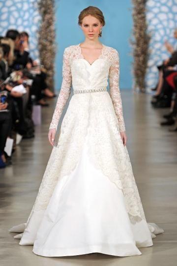 Lace sleeves, Oscar de la Renta | Lace Wedding Dresses | Pinterest ...