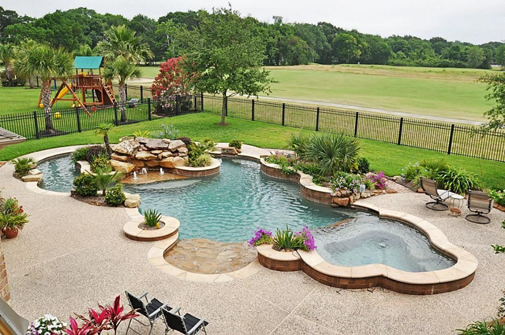 Amazing Cool Swimming Pools With Slides Kids Room Plans Free A Residential Pool Designs 1024x680 Jpg Residential Pool Swimming Pools Backyard Pool Landscaping
