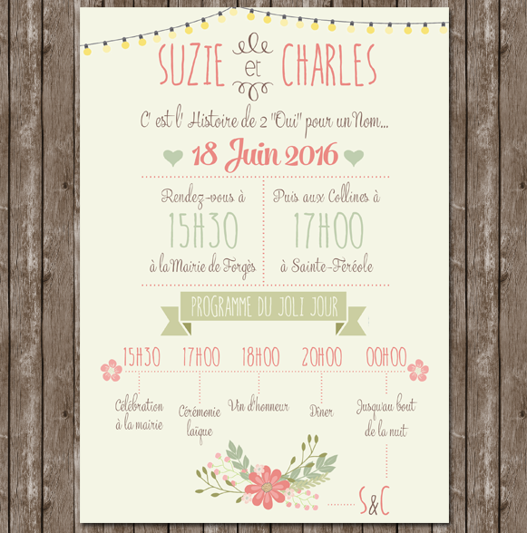 1000 images about faire parts on pinterest logos wedding save the dates and mariage - Faire Part Mariage Guinguette