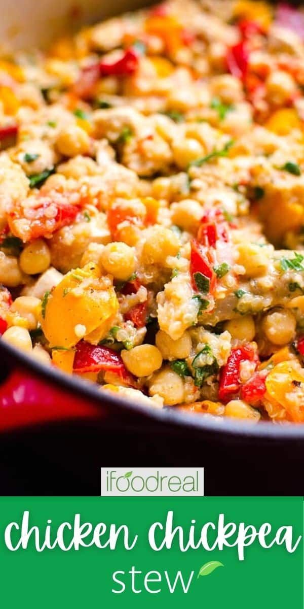 Chicken Chickpea Stew - iFOODreal.com