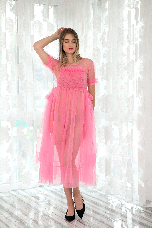 Villanelle Dress Pink Tulle Dress Avant Garde Clothing Etsy Tulle Dress Pink Tulle Dress Blue Tulle Dress [ 3000 x 2000 Pixel ]
