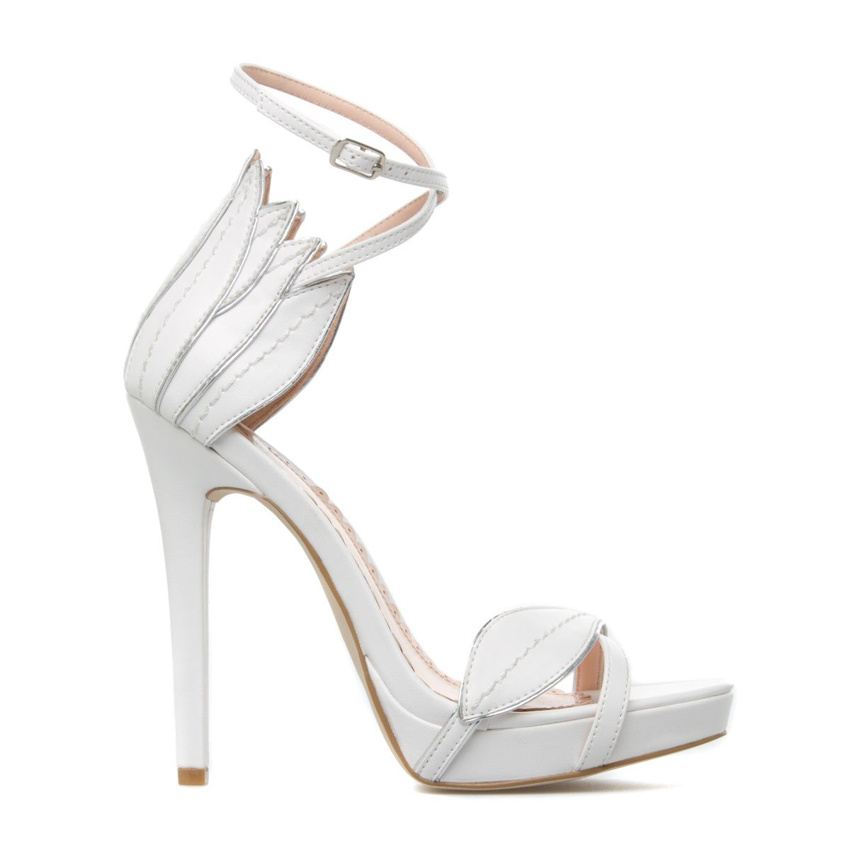 feminine leaf platform sandal//