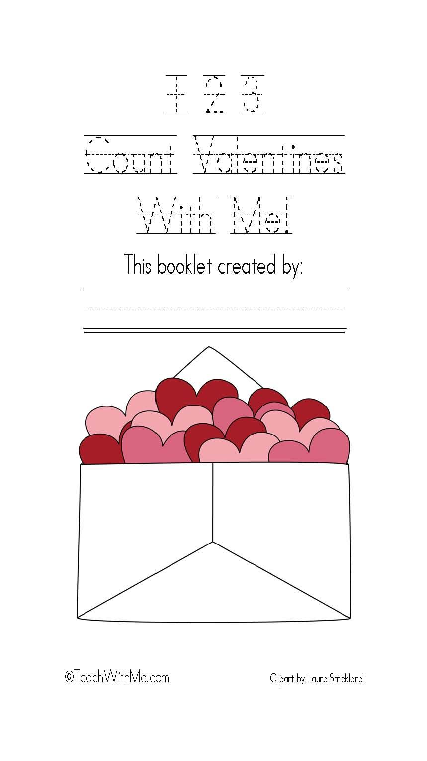 Classroom Freebies: 123 Count Valentines With Me Easy Reader Math Booklet