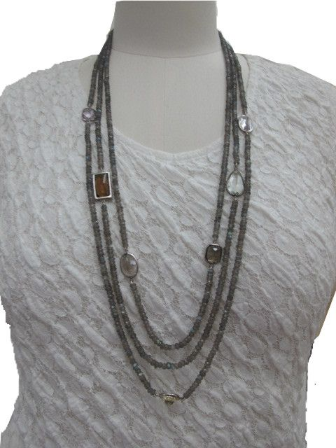 Cymophane stones plus various types of real stone necklace, can be long and can be short, versatile and feminine.