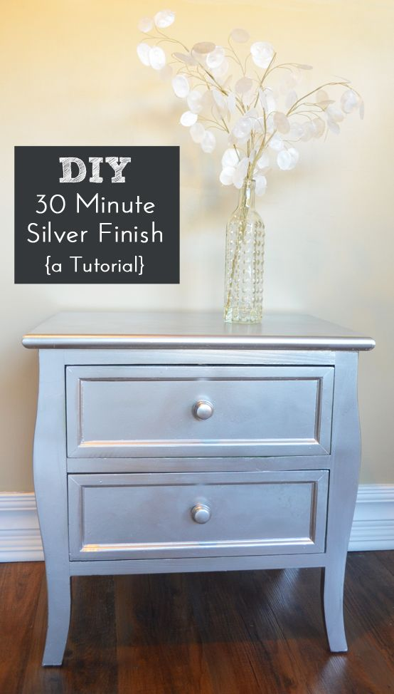 Diy Silver Spray Paint Furniture Finish Silver Furniture Spray Paint Furniture Diy Furniture