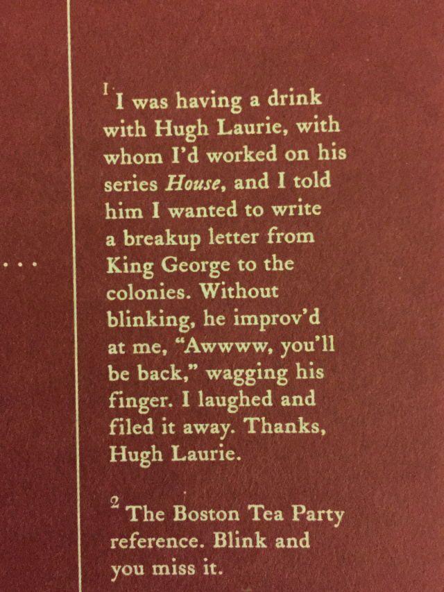 Thanks Hugh Laurie lol