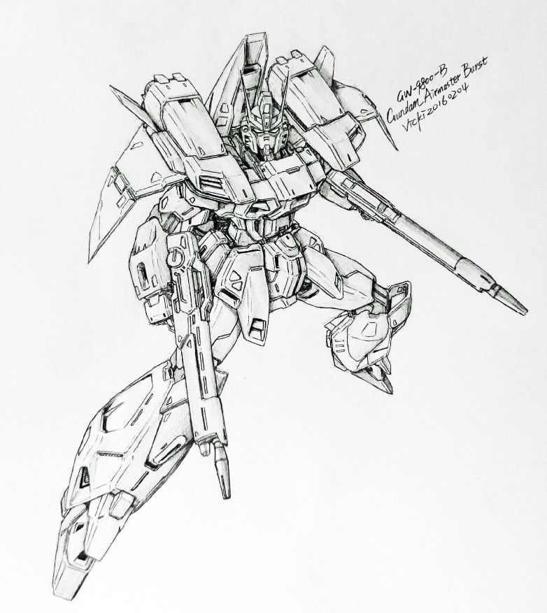 Awesome Gundam Sketches By Vickidrawing View More At Her Website