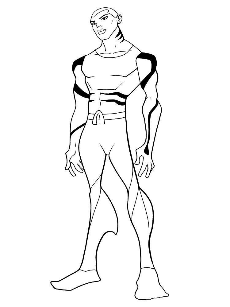 Imprimir Dibujos Para Colorear Liga De La Justicia Para
