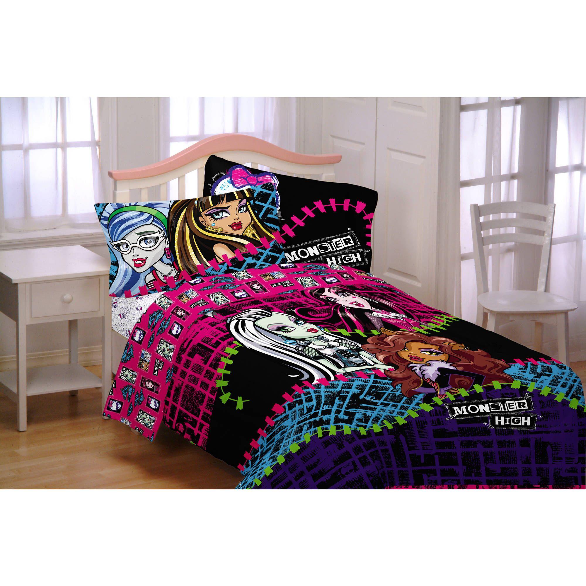 Monster High All Ghouls Allowed Twin Full Microfiber Reversible Bedding Comforter Walmart Com Twin Size Bedding Full Bedding Sets Kids Twin Bedding Sets