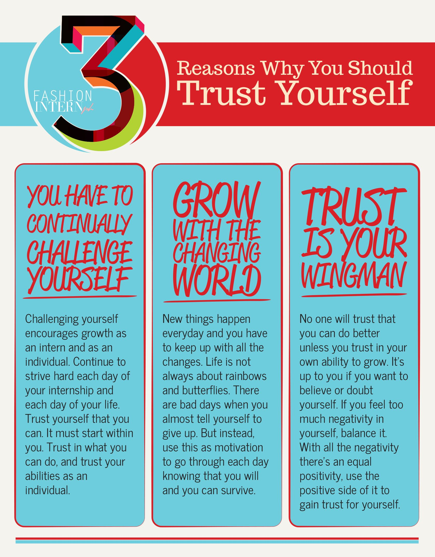 infographic 3 reasons why you should trust yourself intern tips infographic 3 reasons why you should trust yourself intern tips