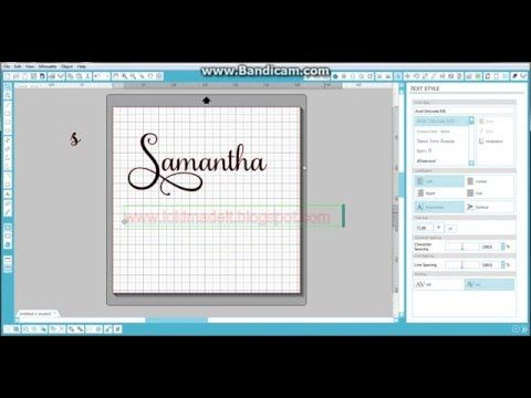 How To Use Samantha Font In Design Space Babelmap Charactermap Cricut Design Space Youtube Silhouette Tutorials Silhouette Studio Samantha Font