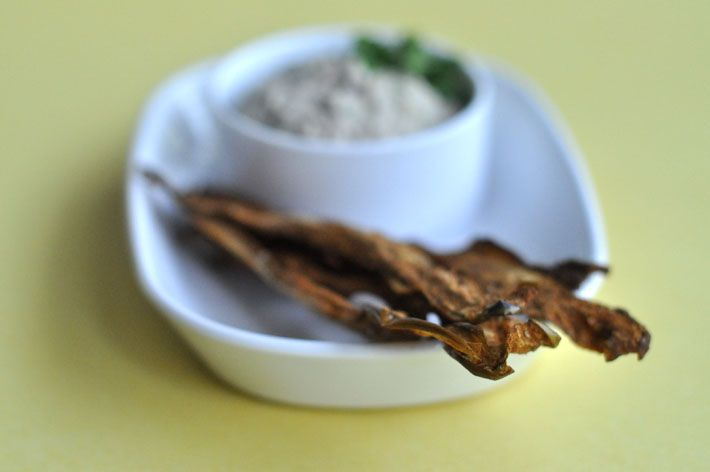 Eggplant bacon.  I tried Live Organic Food Bar's version recently and it was amazingly delicious!