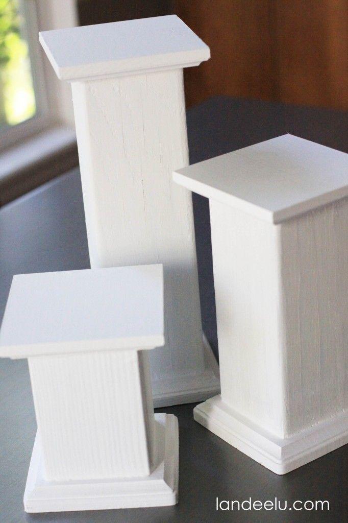 Diy Pedestals For Displaying Objects Landeelu Com Wood Pedestal Diy Plant Stand Craft Show Displays