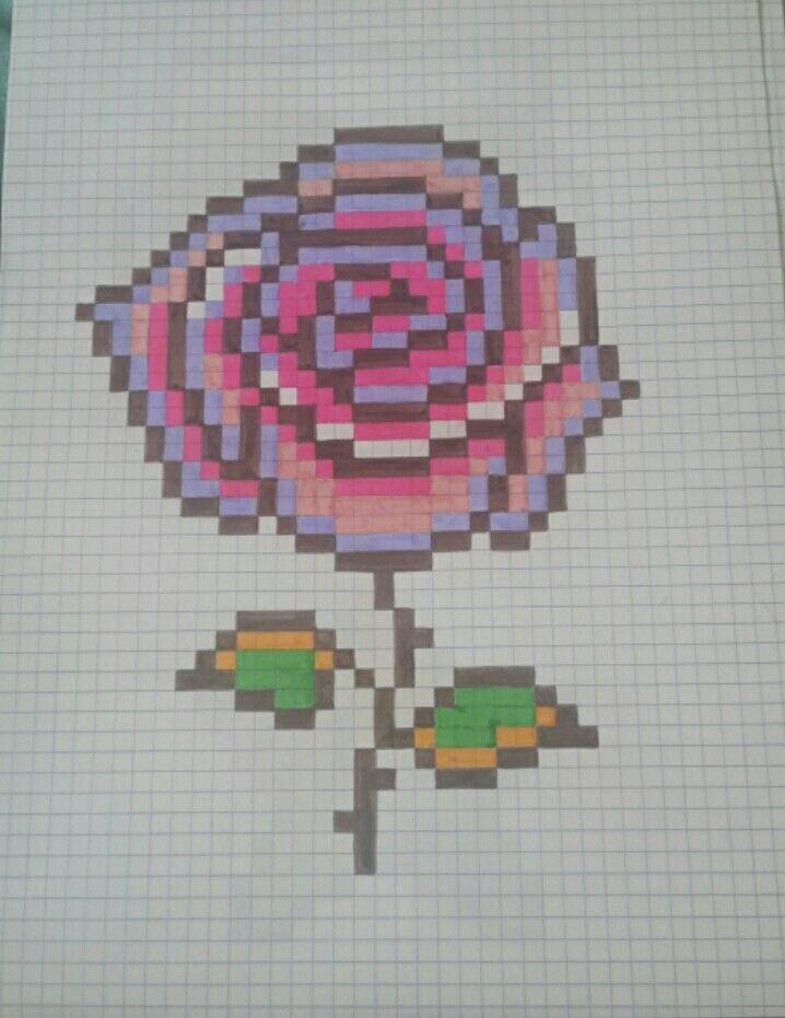 Pixel Art Rose De La Belle Et La Bête Pixel Art Dessin