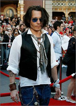 Johnny Depp Pulls Off The Bohemian Style Quite Well For A Male Does Not Work