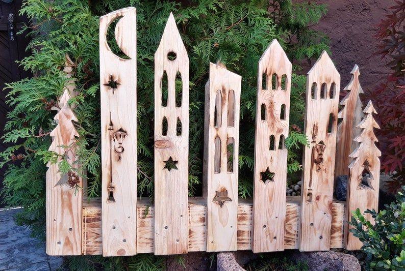 Garten Landliche Dekodorf Hauseingang Terrasse Balkon Geschenk Aus Paletten Holz Natur Oder Geflammt Hauseingang Winterdekorationen Holz Basteln Weihnachten