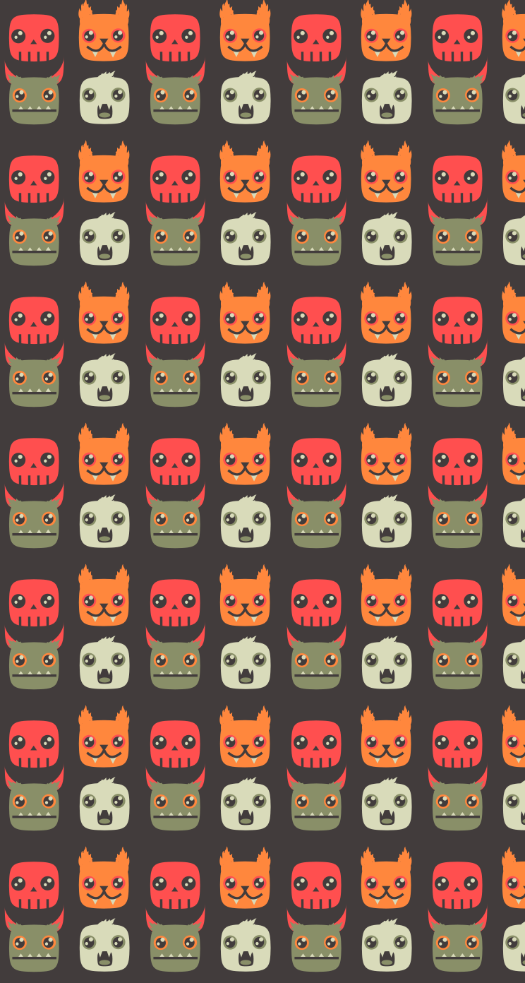 Iphone wallpaper halloween tumblr - Animal Cartoon Pattern Iphone Wallpaper