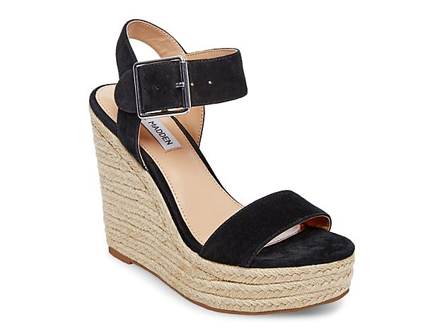 63090ba2c4d Women Santorini Wedge Sandal -Black Suede | Products | Black wedge ...