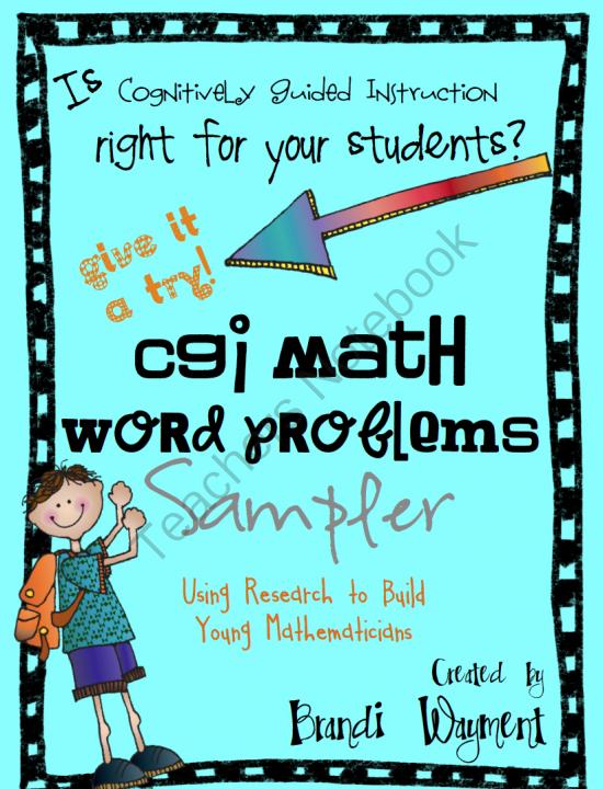 CGI Math Word Problem Sampler from BrandiWayment on TeachersNotebook ...