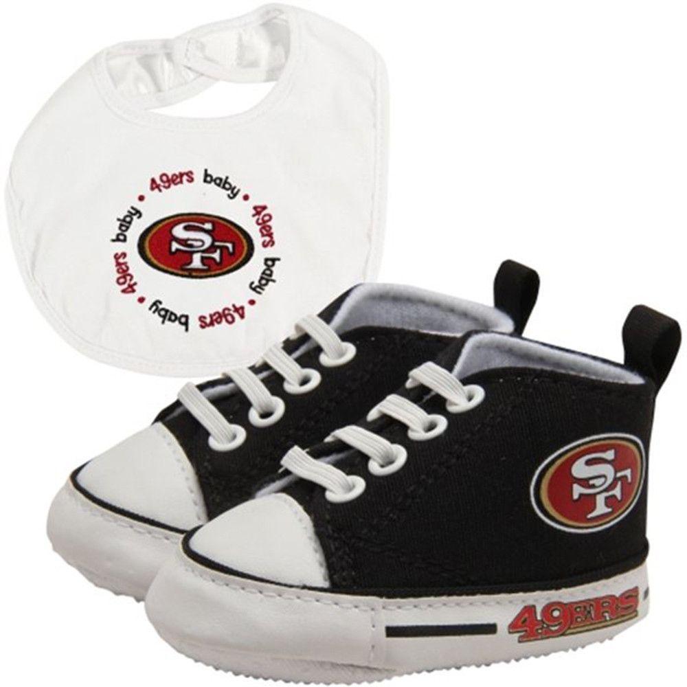 San Francisco 49ers NFL Infant Bib and Shoe Gift Set