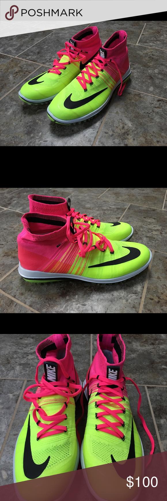32ed88dd0589 Nike Flyknit Elite Golf Shoes Size 10.5 Pink Blast Brand new ...