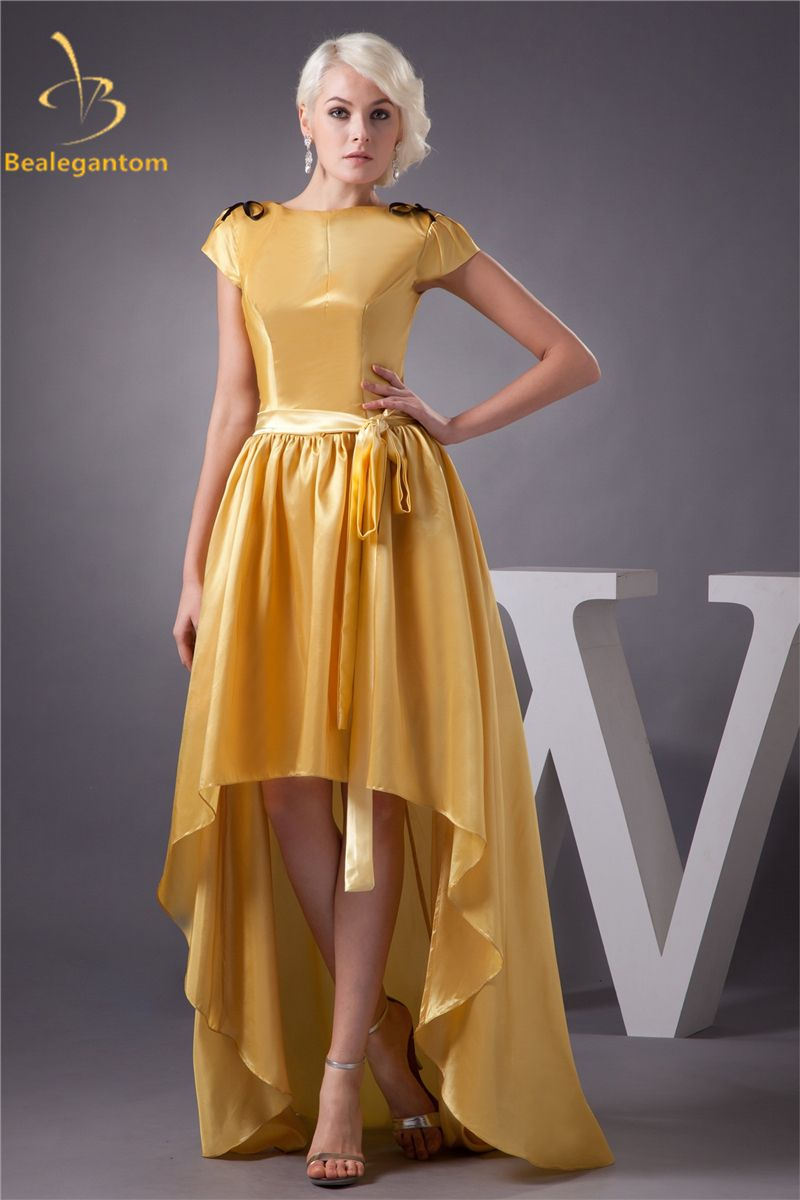 Click to buy ucuc bealegantom fashion gold short ribbons aline