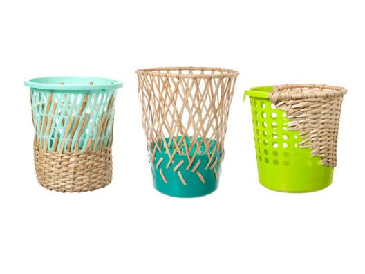 Designed by Cordula Kehrer and commissioned by fair trade NGO Preda, these whimsical wastebaskets are made by the indigenous Aeta people of the Philippines using traditional basket weaving techniques. Made with sustainably harvested rattan, they achieve simple and unpretentious shapes that catch the eye.