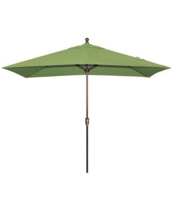 Treasure Garden Patio Umbrella Outdoor 8 X10 Rectangle Auto Tilt
