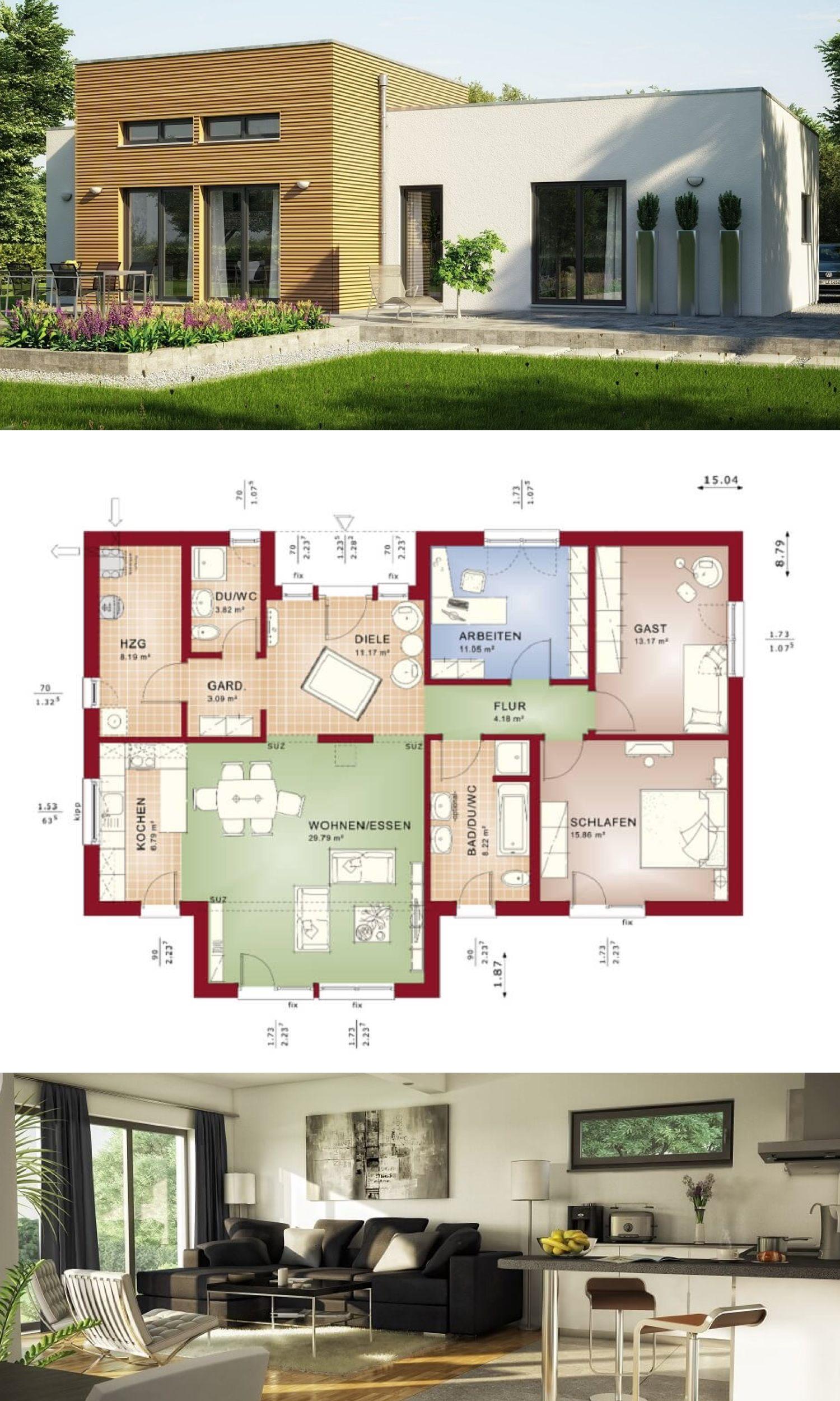 Bungalow Haus Evolution 111 V4 Bien Zenker - Moderner Bungalow mit ...