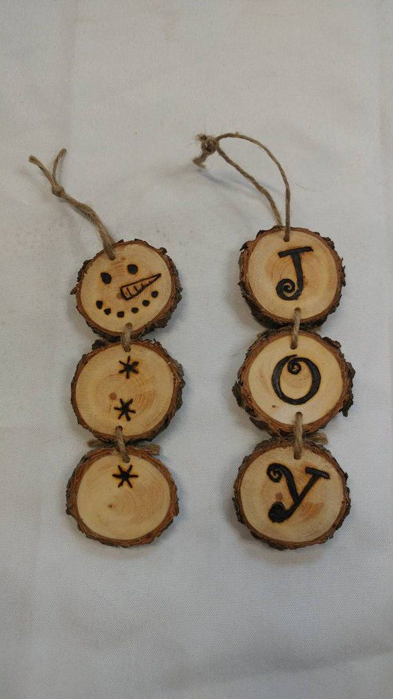 Items similar to Handmade Rustic Woodsy Decorative Wood Round Ornaments (Wedding, Christmas, Home Decor) From a Colorado Pine Tree Personalized to Any Design on Etsy