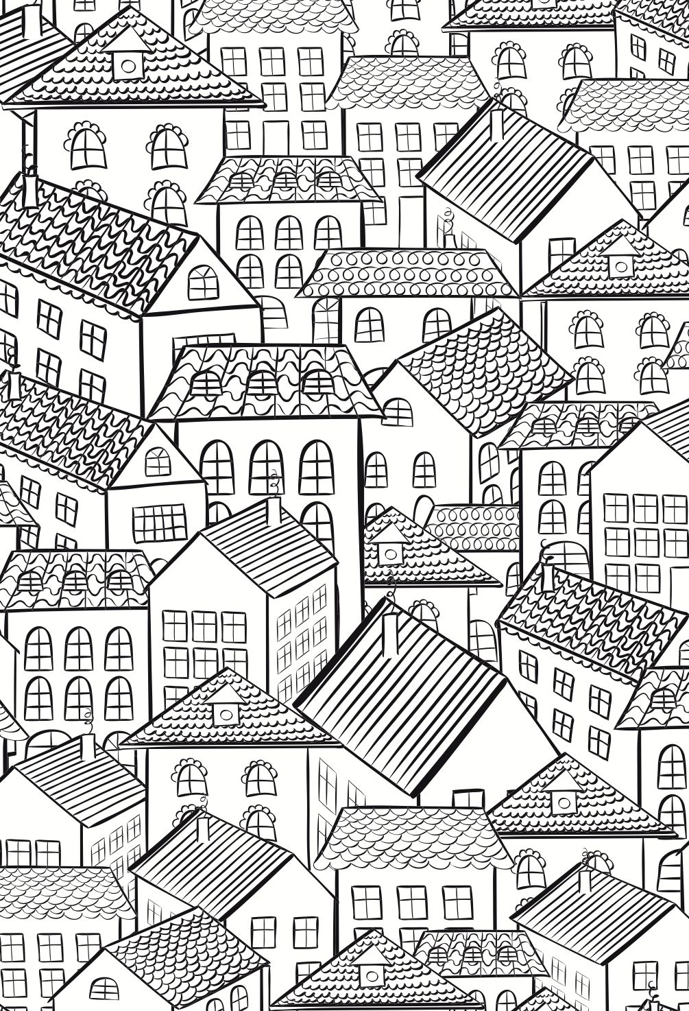 Free printable coloring pages for adults city - Colouring For Adults Anti Stress Colouring Printables