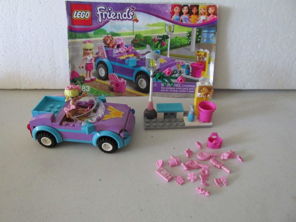 Lego Friends 3183 Steph 01 Sport Car With Instructions Mini Figures