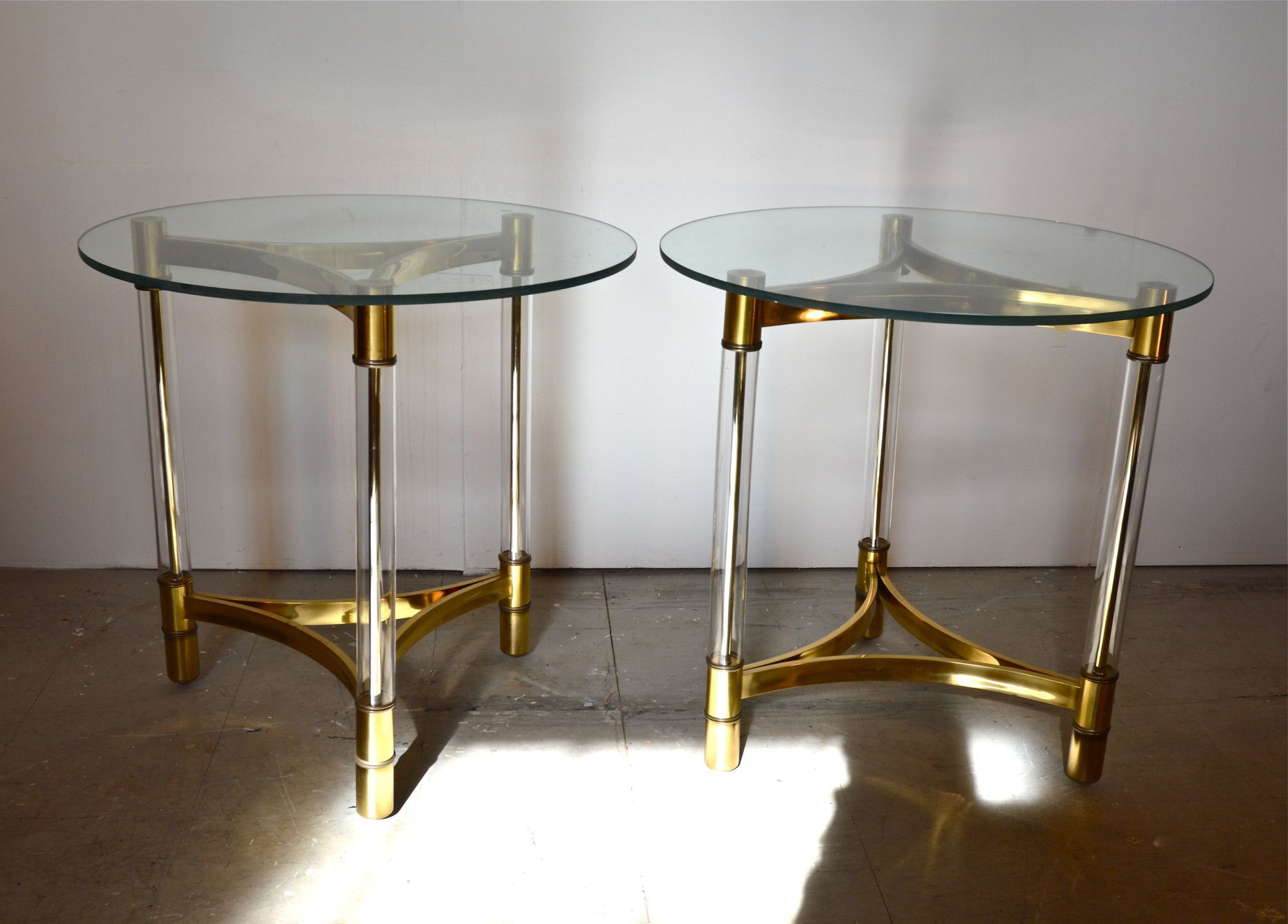 Modern glass end table  Brass and Glass End Tables  End Tables  Pinterest  Glass and Products