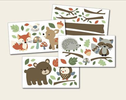 Forest Friends Wall Decals by Carters