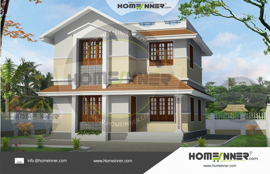 Low Budget Kerala Style Double Floor House Plan 1274 Sq Ft House Plan Gallery Kerala House Design Free House Plans