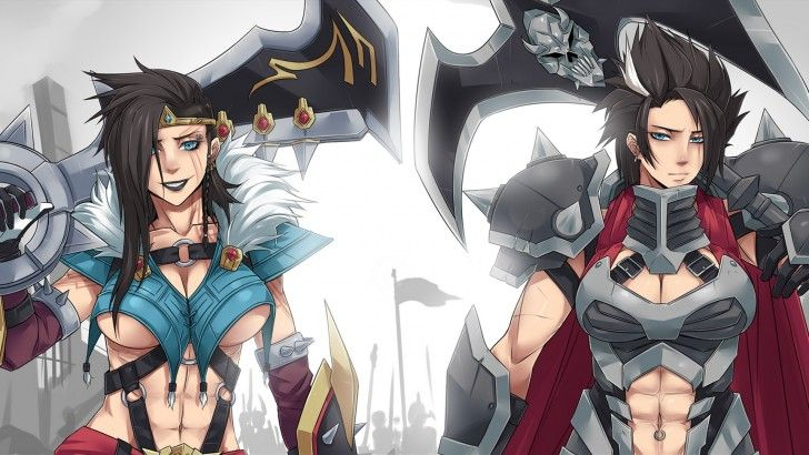 Download Draven And Darius Wallpaper Girl Art By Exaxuxer 1920x1080