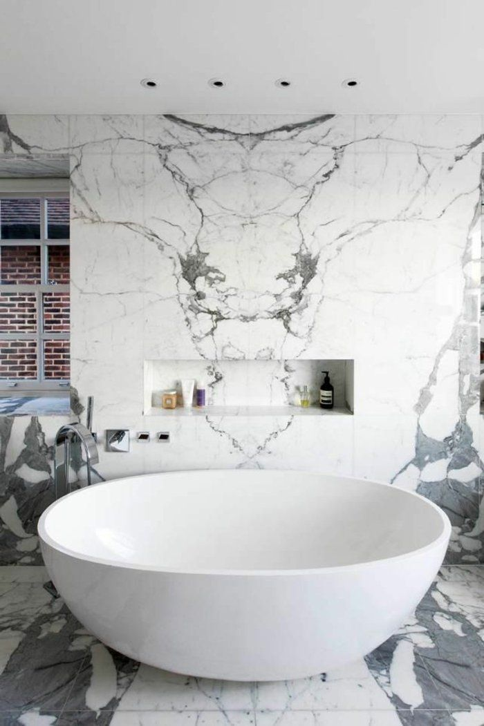 Beaucoup du0027idées en photos pour la salle de bain en marbre Decoration
