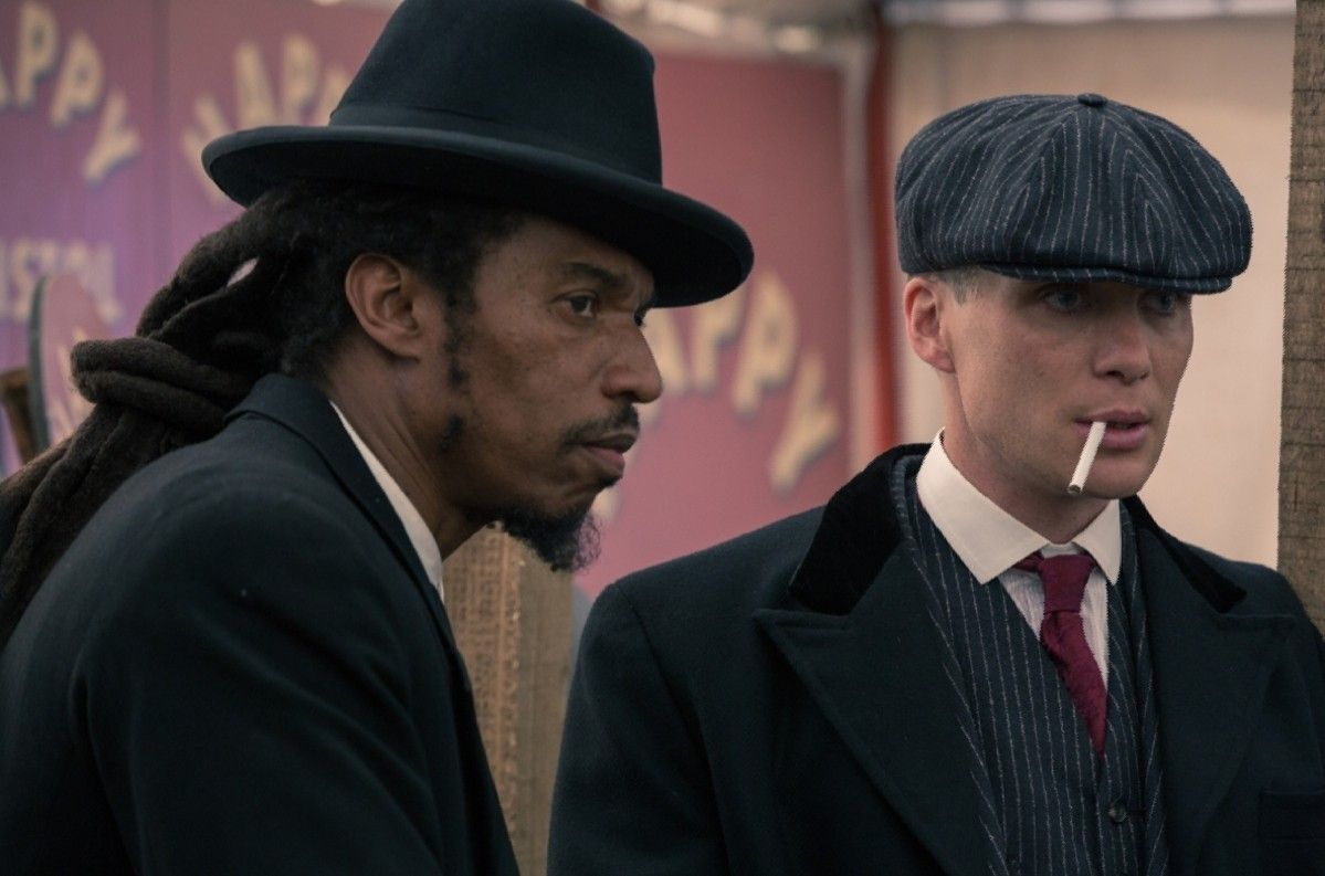 Cillian Murphy And Benjamin Zephaniah In Peaky Blinders