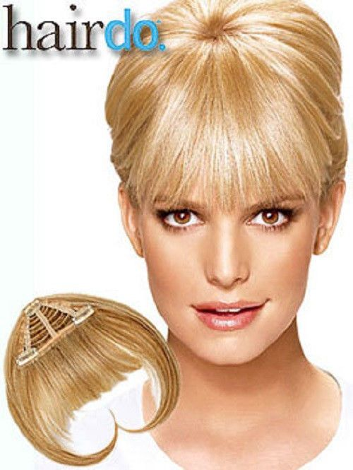 Jessica Simpson Ken Paves Bangs Hairdo Hair Extensions New