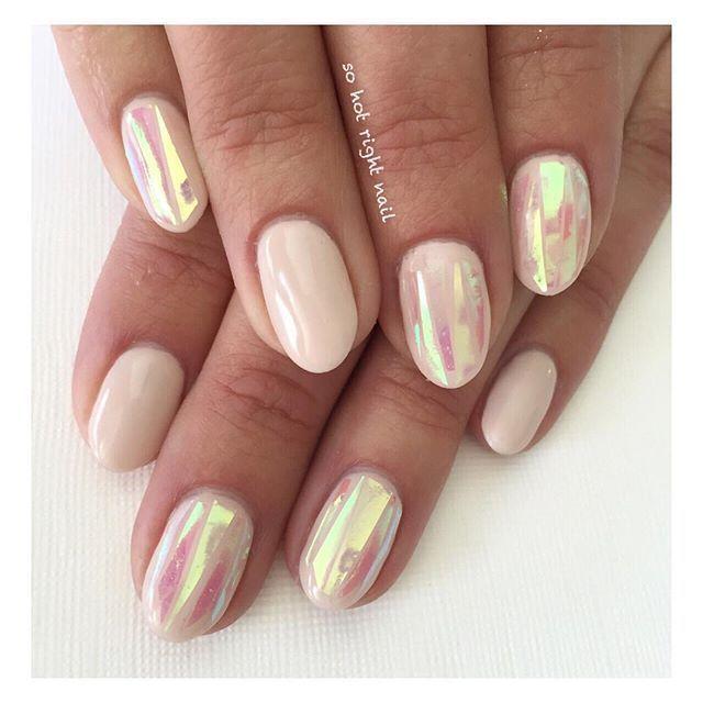 simple opal nails | Nail Art | Pinterest | Opal nails, Medium ...